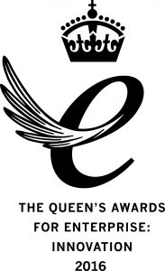 Queen's Award for Enterprise Innovation 2016 Emblem-black on white